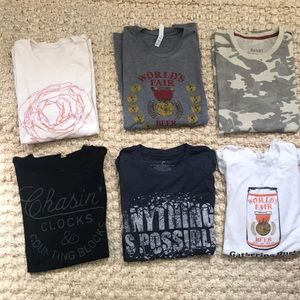 6 for $25 men's size large graphic tees